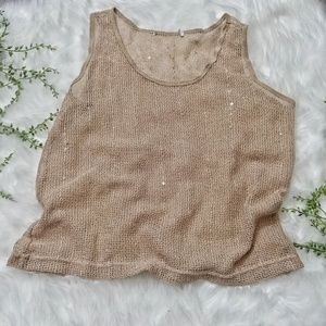 Tops - Mesh See Through Slightly Sequence Tank